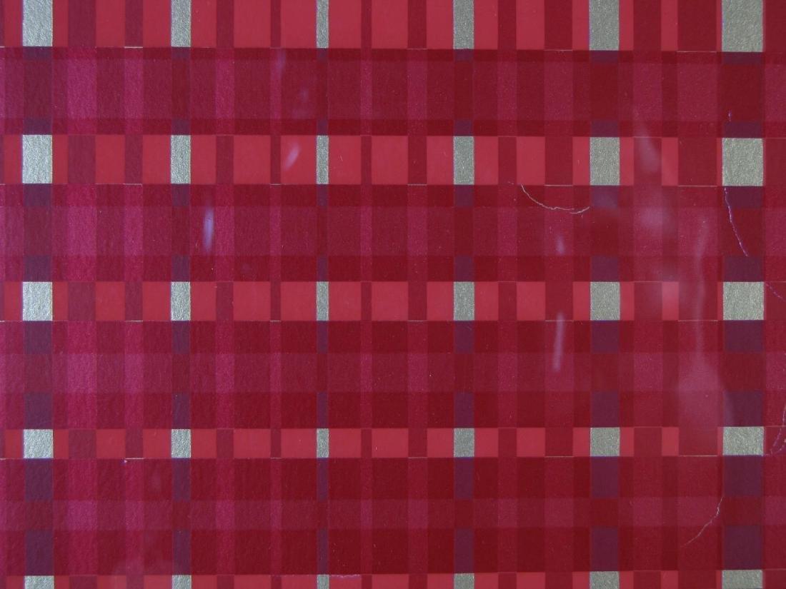 Framed Op-Art Silkscreen, A Goldberg - 6