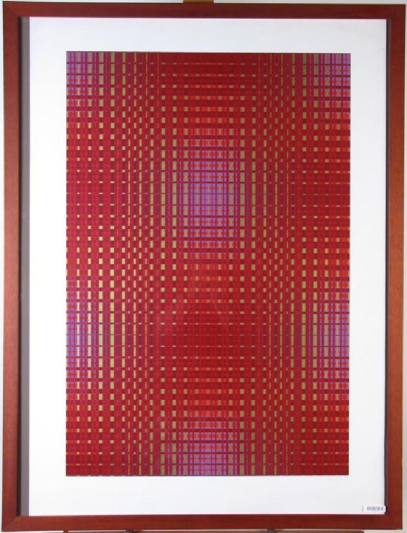 Framed Op-Art Silkscreen, A Goldberg - 7