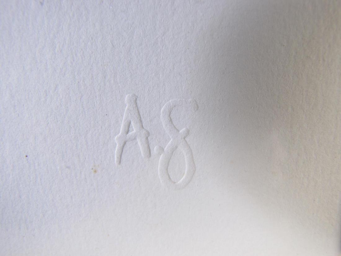 Framed Op-Art Silkscreen, A Goldberg - 9