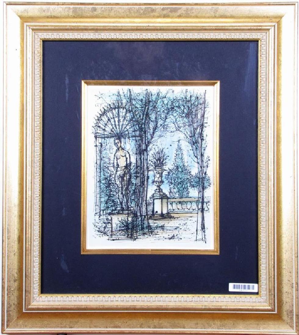 "Jean Carzou Lithograph in Colors, ""Jardin"""