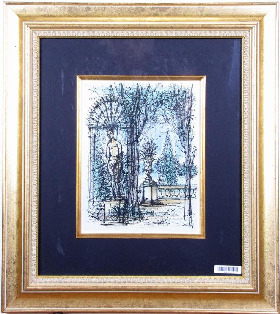 "Jean Carzou Lithograph in Colors, ""Jardin"""
