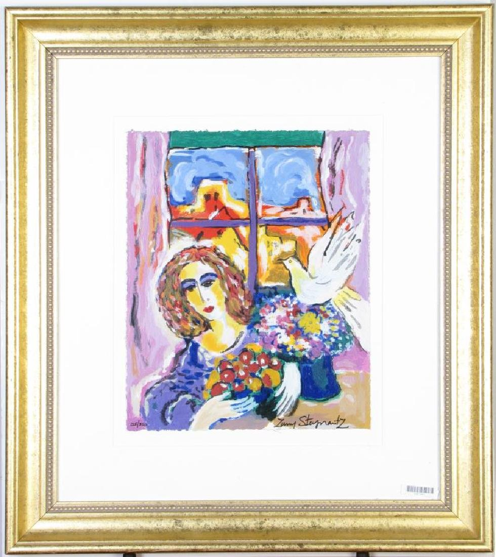 "Zamy Steynovitz ""Woman at the Window"" Serigraph"