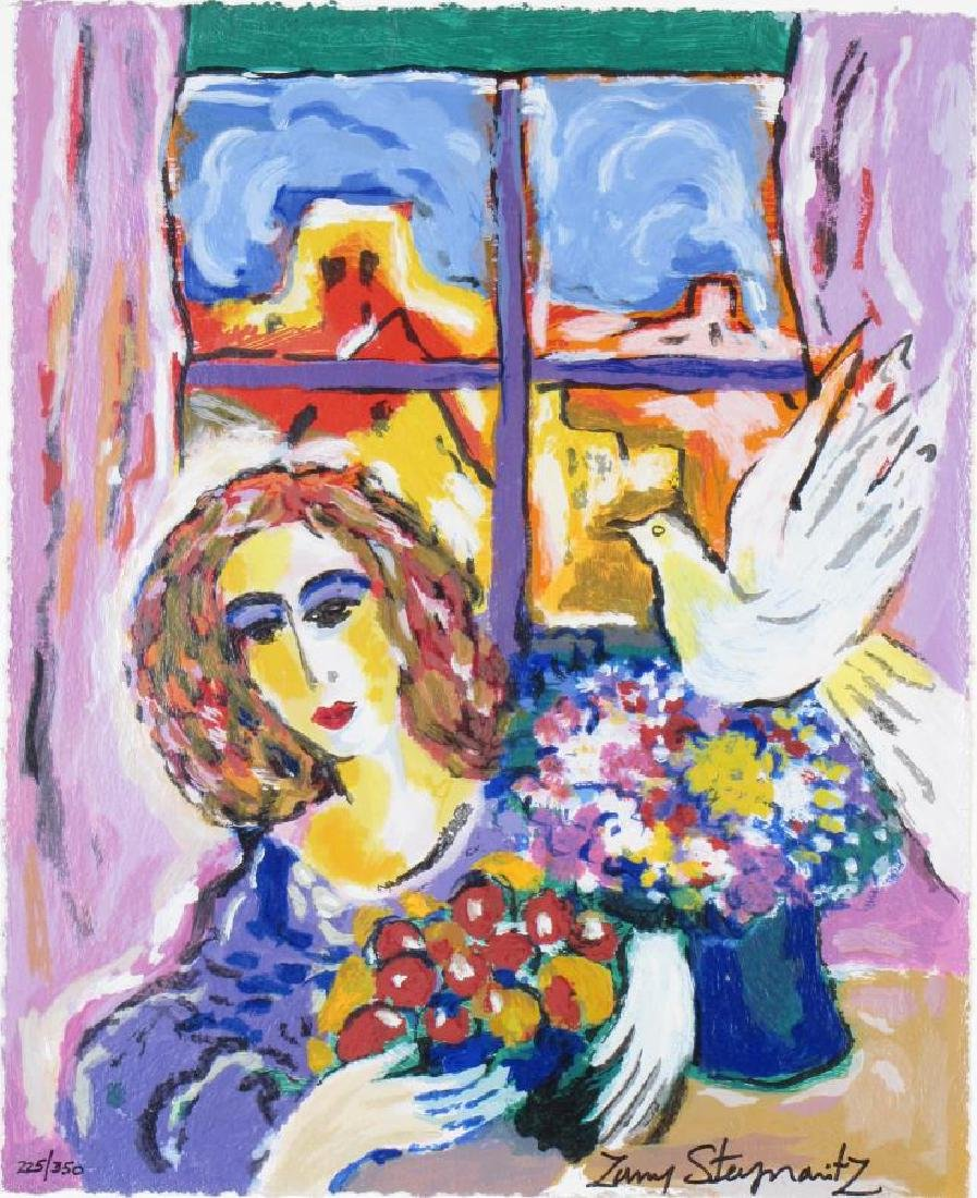 "Zamy Steynovitz ""Woman at the Window"" Serigraph - 2"