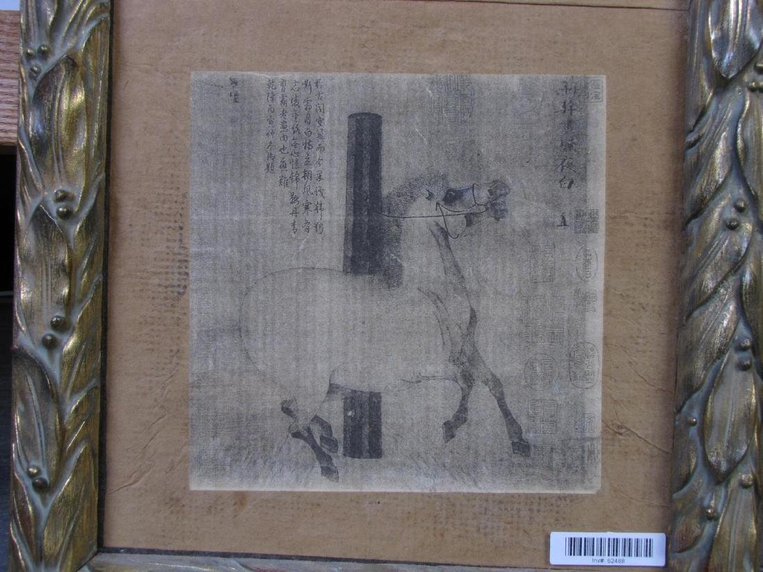 8 Oriental Horse Prints, Vertically Framed - 10