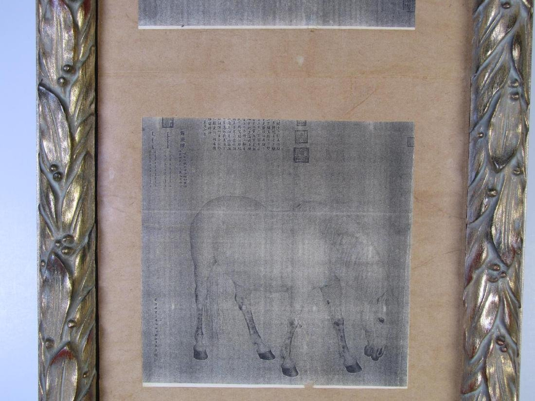 8 Oriental Horse Prints, Vertically Framed - 4