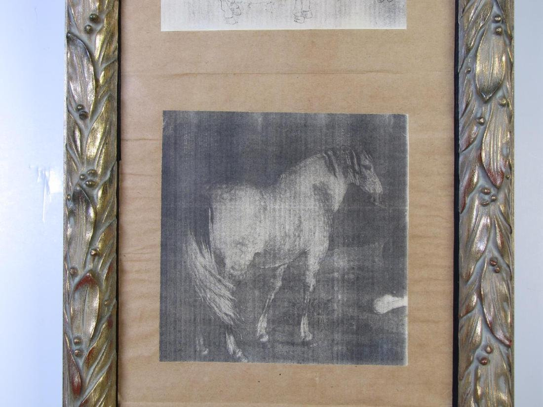 8 Oriental Horse Prints, Vertically Framed - 6