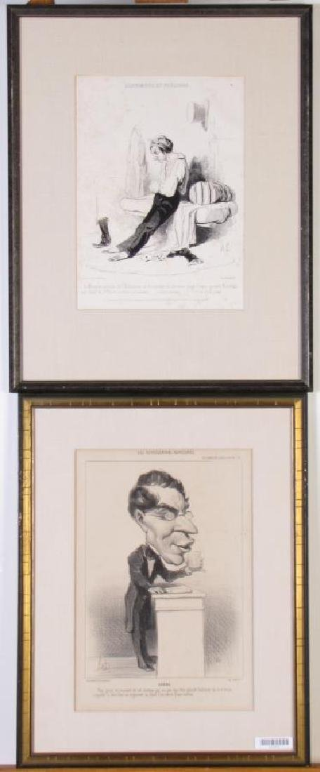Two French Book Plates, Framed