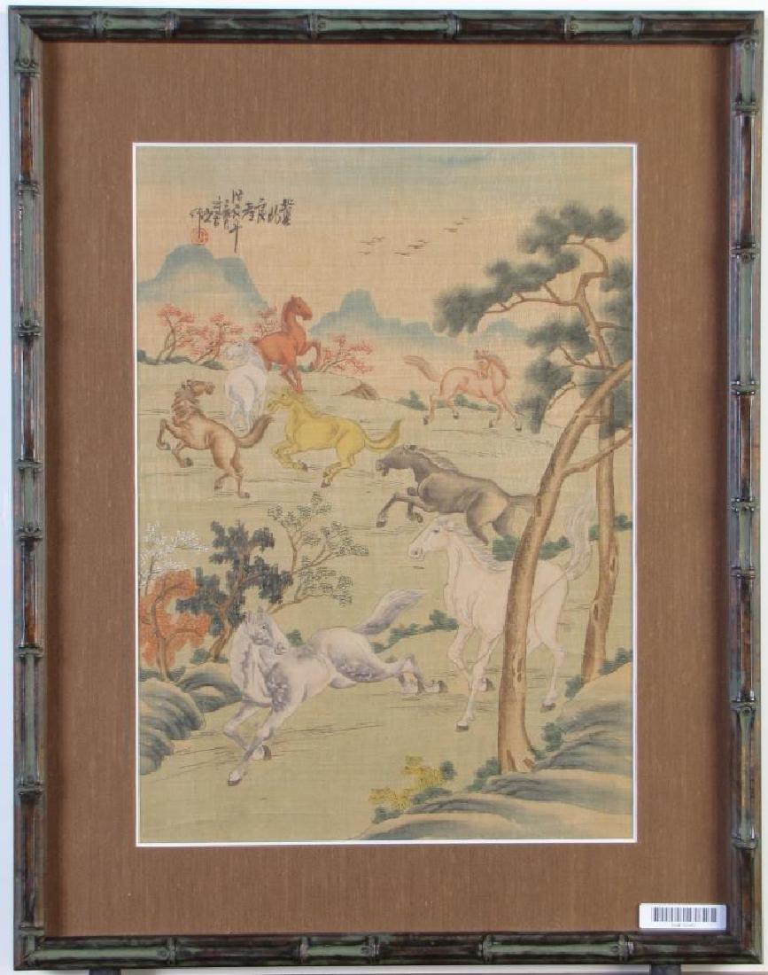 Japanese Color Woodblock Print on Silk - 2