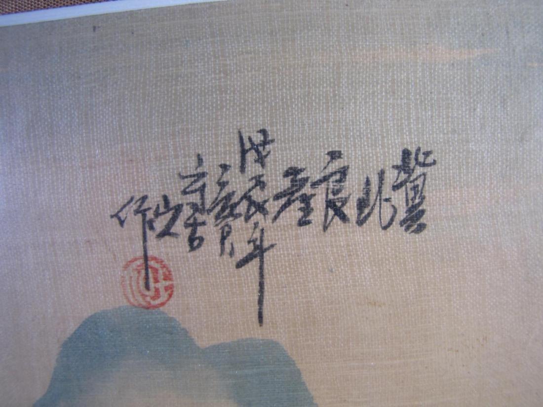 Japanese Color Woodblock Print on Silk - 3