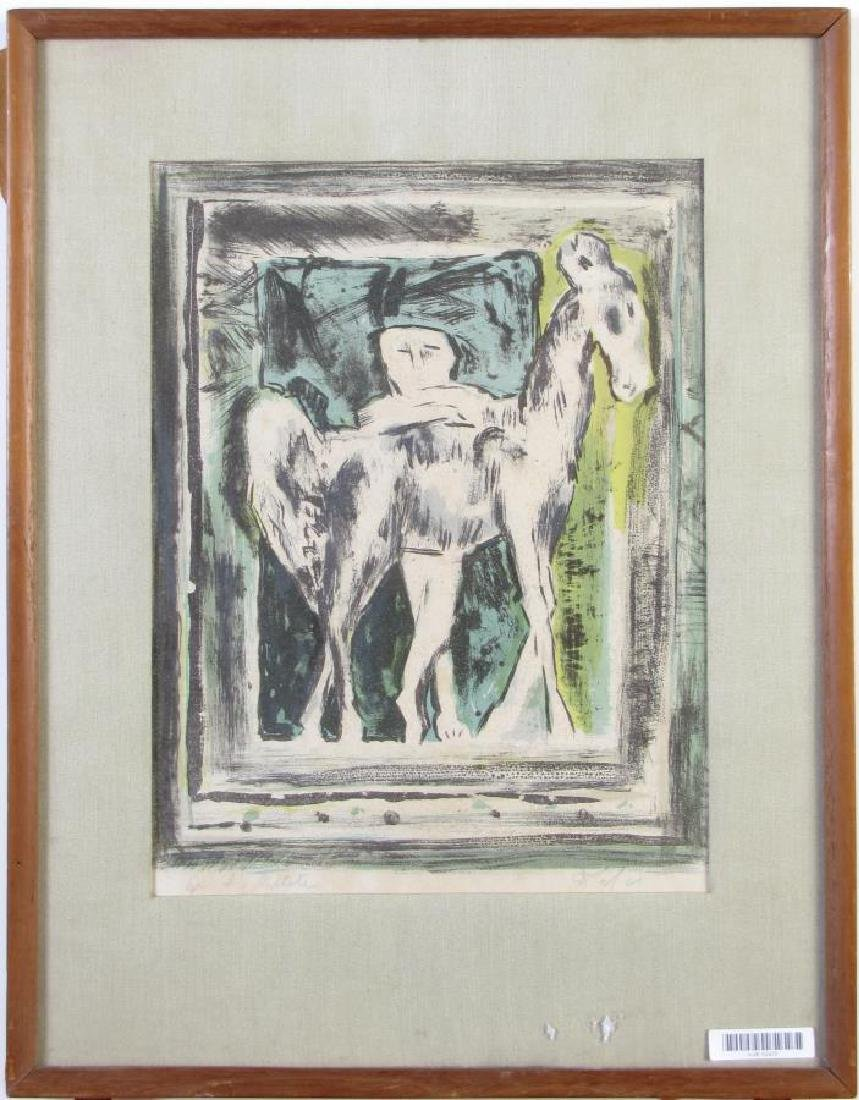 Color Print Depicting Man and Equine