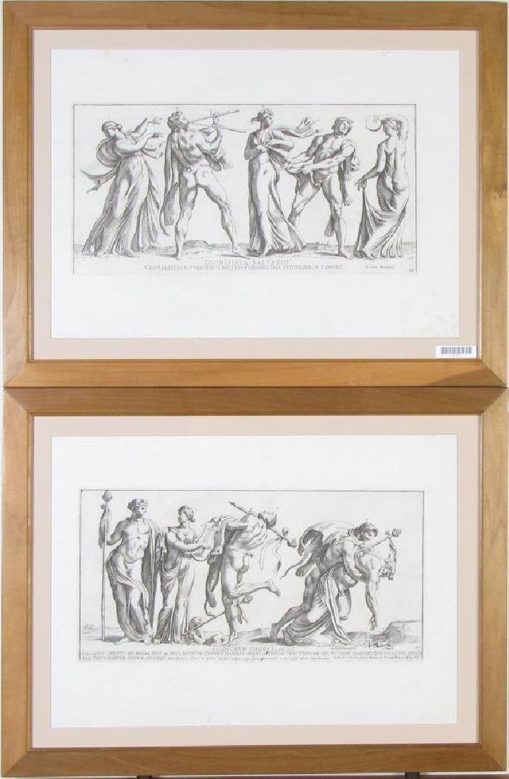 Two, Framed 18th Century Italian Engravings