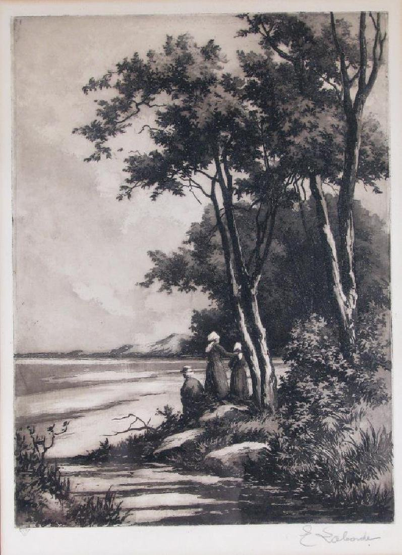 Two Etchings by E Laborde (France) - 2