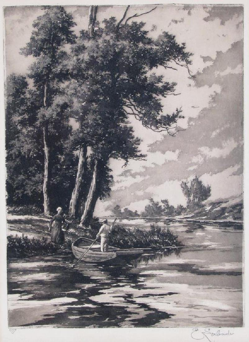Two Etchings by E Laborde (France) - 3