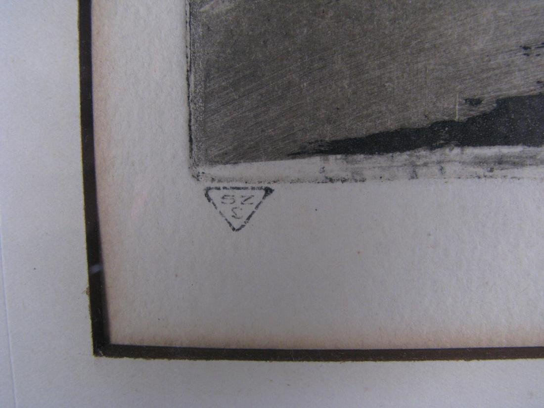 Two Etchings by E Laborde (France) - 6