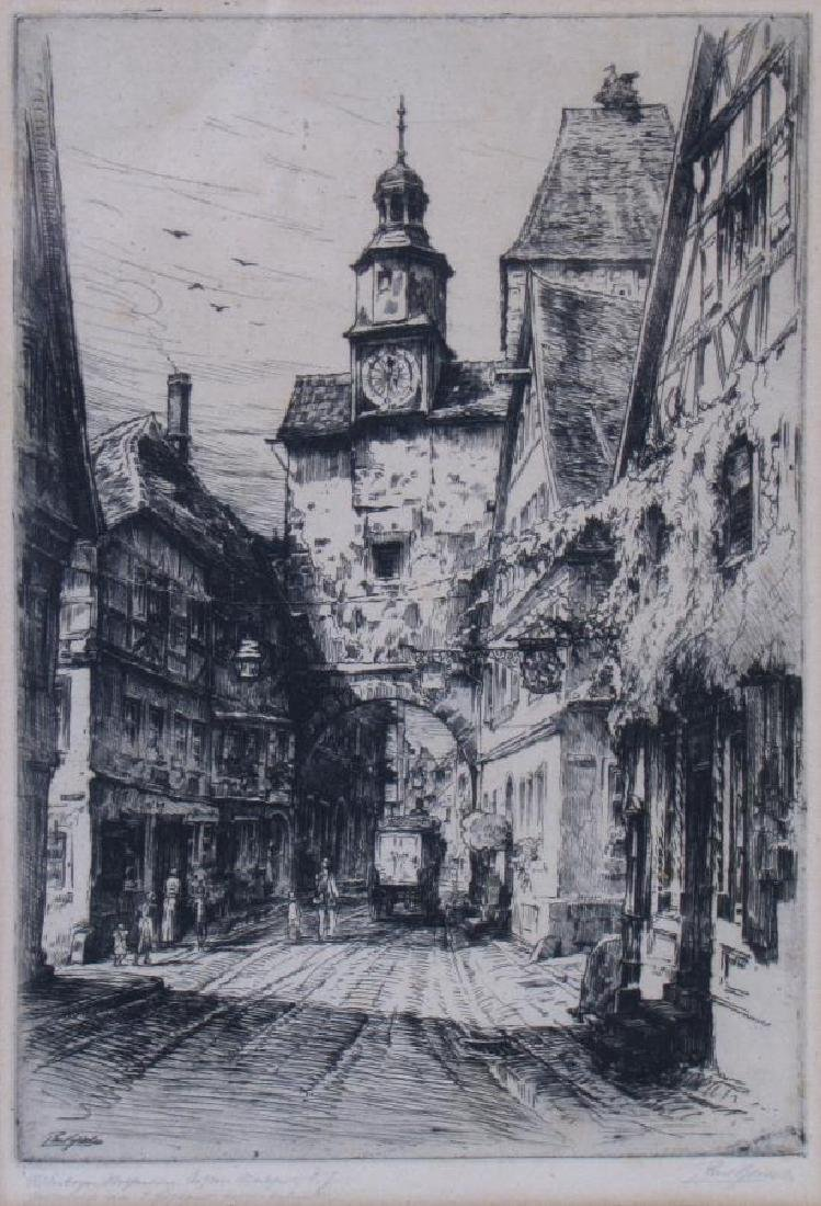 Two Antique German Etchings, Geissler and Veit - 3