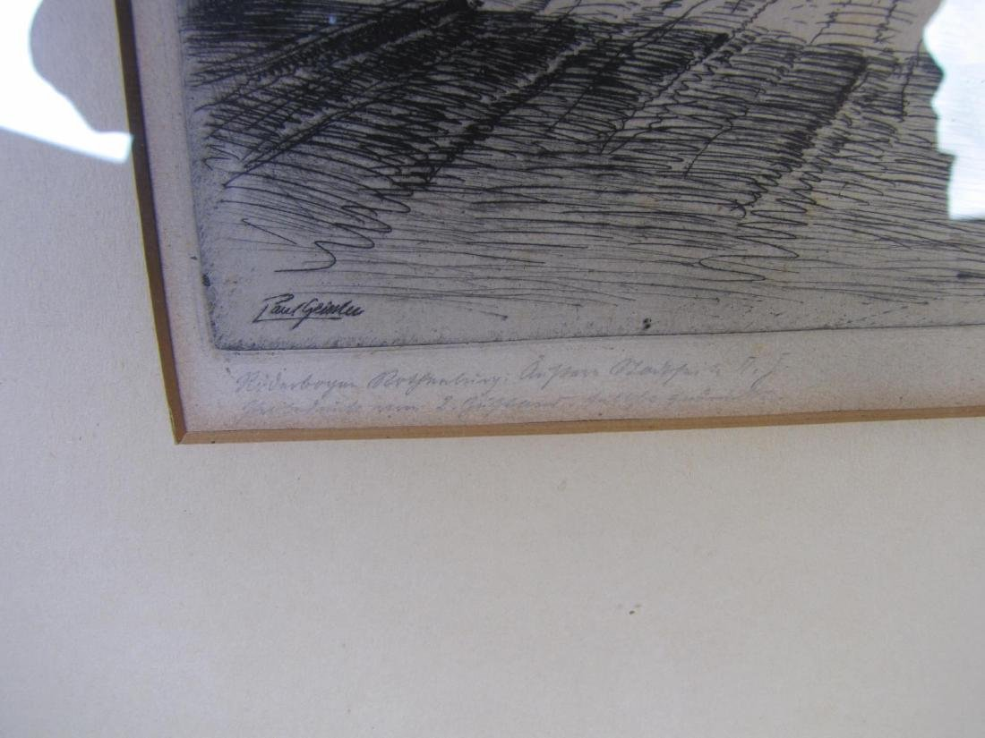 Two Antique German Etchings, Geissler and Veit - 7