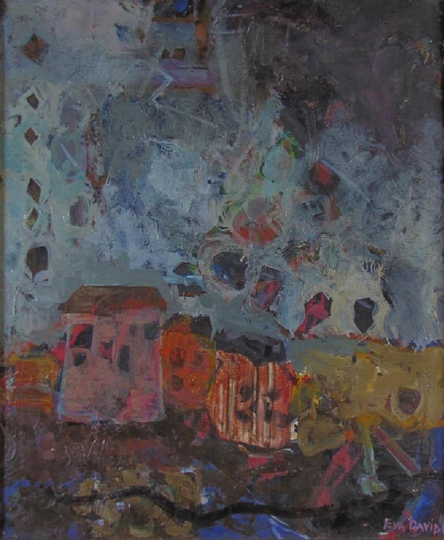 Eva David 26x21 O/C Expressionist Dwelling - 2