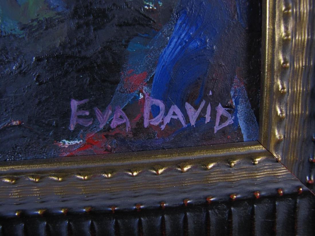 Eva David 26x21 O/C Expressionist Dwelling - 3