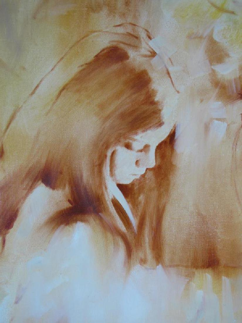 Thomas 48x36 O/C Melancholy Girl - 3
