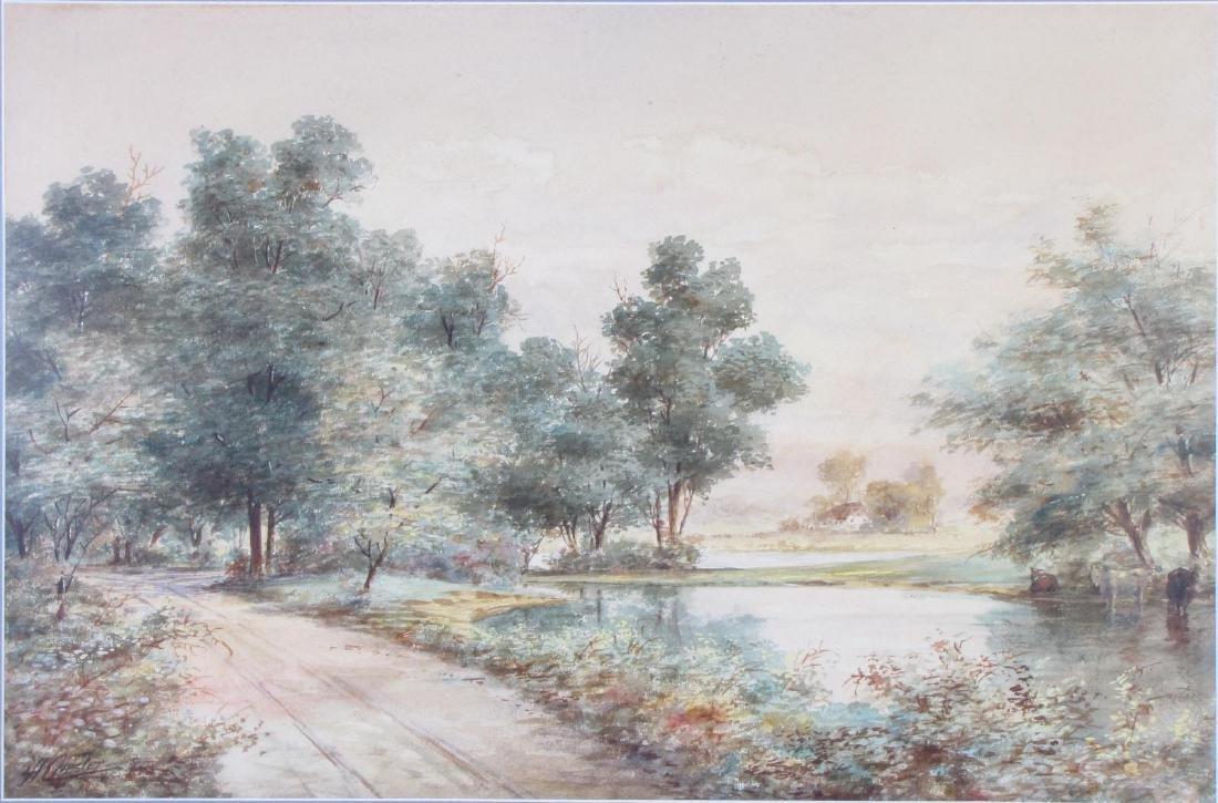 A Chester 26x25 WC English Landscape