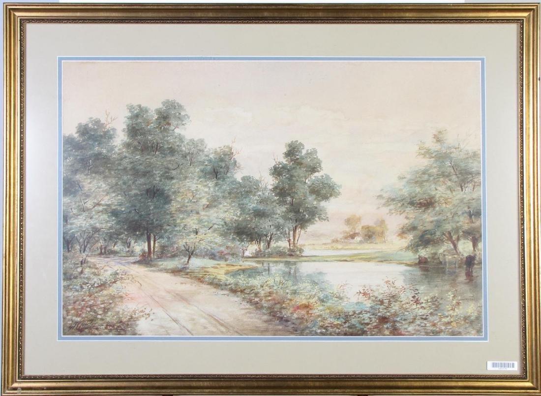 A Chester 26x25 WC English Landscape - 2