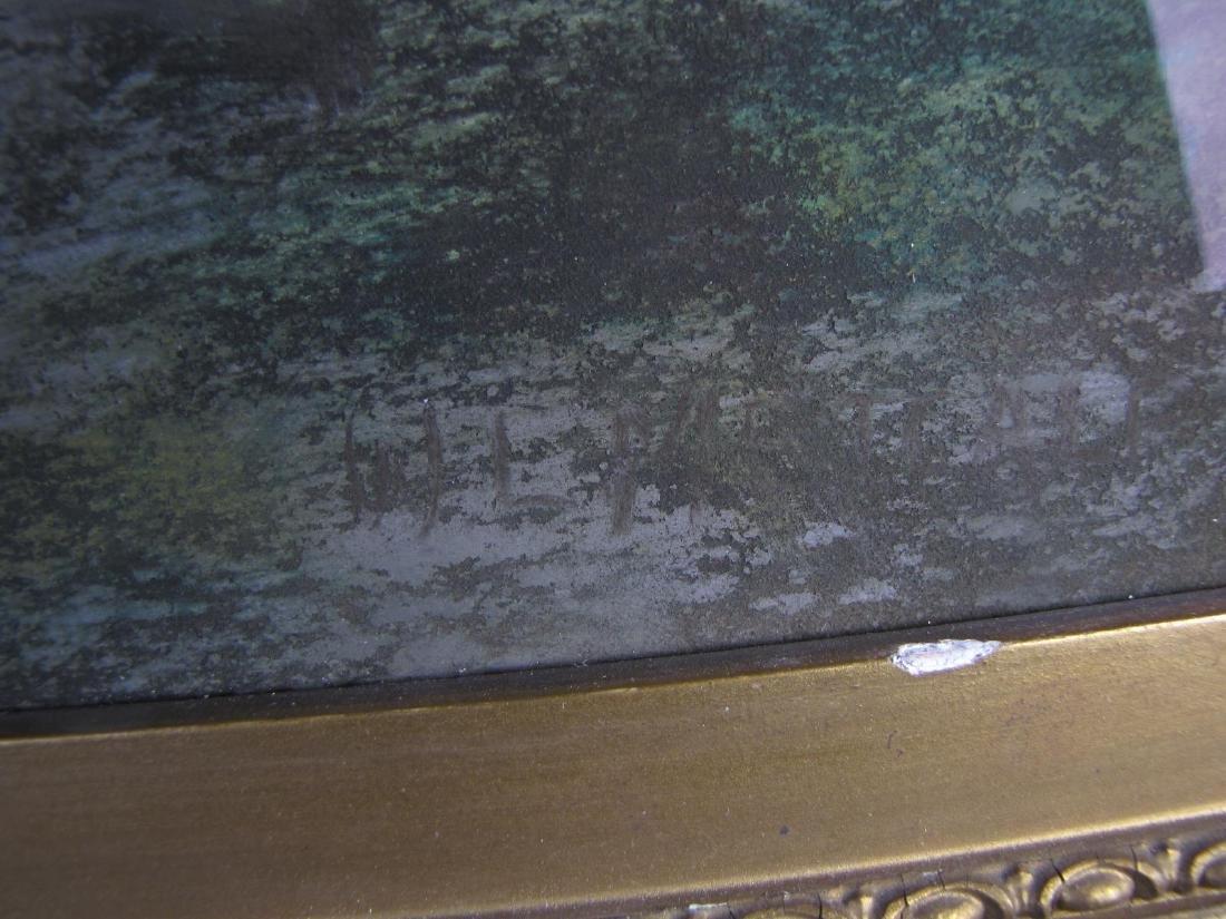 Unclearly Signed 20x30 Pastel Landscape, Bridge - 6