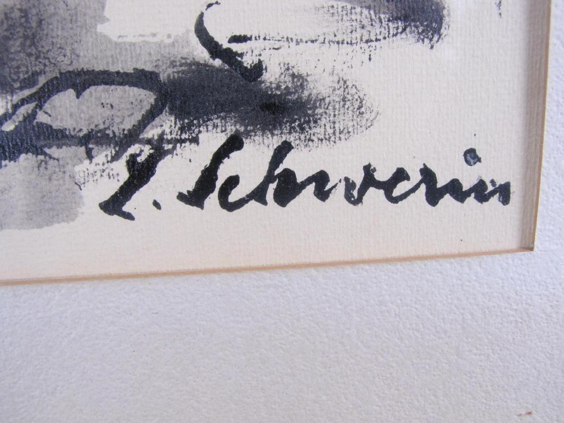 Ludwig Schwerin 20x24 Ink/Wash Camel Rider, Desert - 3