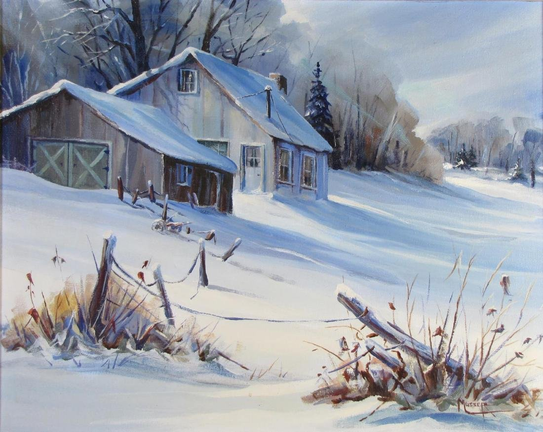 Robert Musser 24x30 O/C Winter Cabin