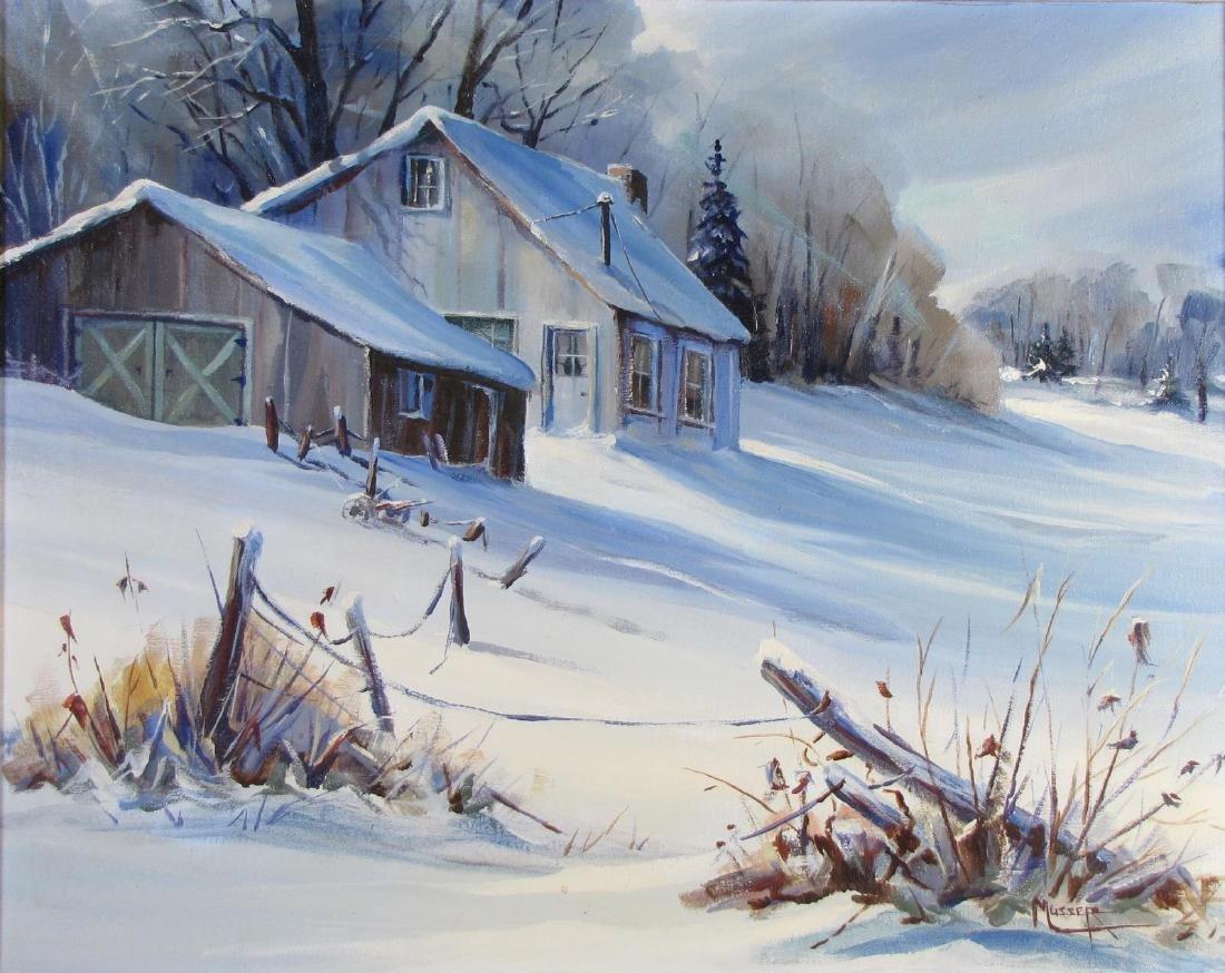 Robert Musser 24x30 O/C Winter Cabin