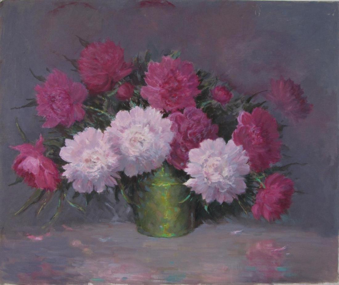 Attrib Alton Coffey 25x30 O/C Floral Still Life