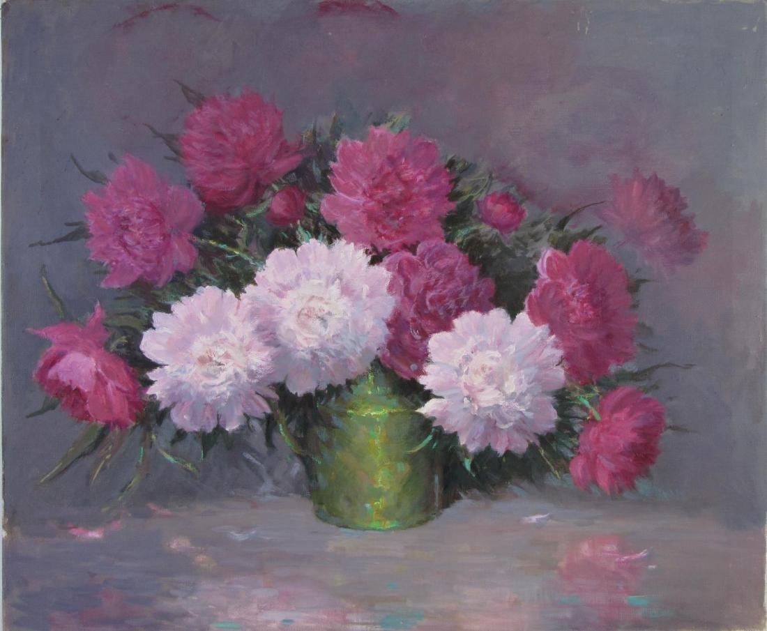 Attrib Alton Coffey 25x30 O/C Floral Still Life - 2