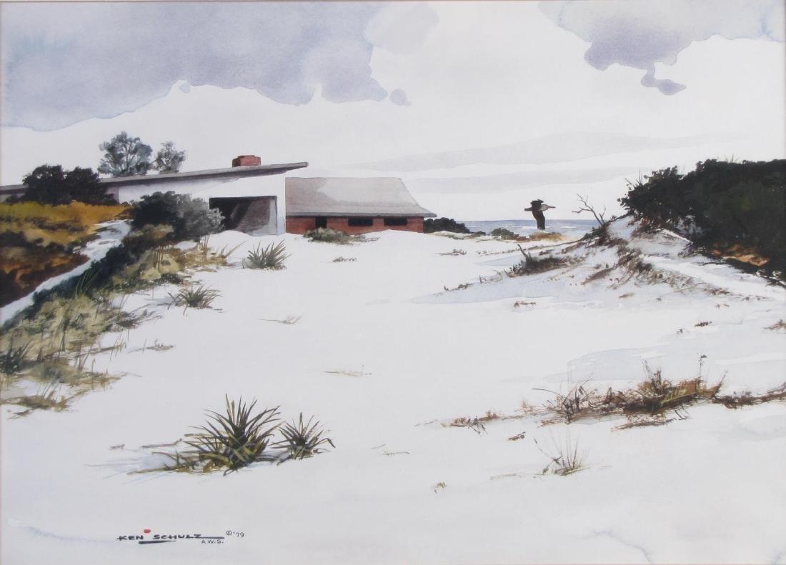 "Ken Schulz, WSA 16x20 WC ""Beachhouse"" - 2"
