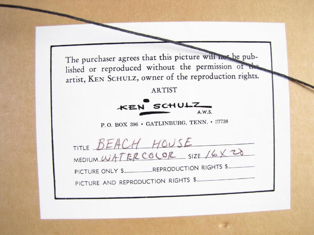 "Ken Schulz, WSA 16x20 WC ""Beachhouse"" - 4"