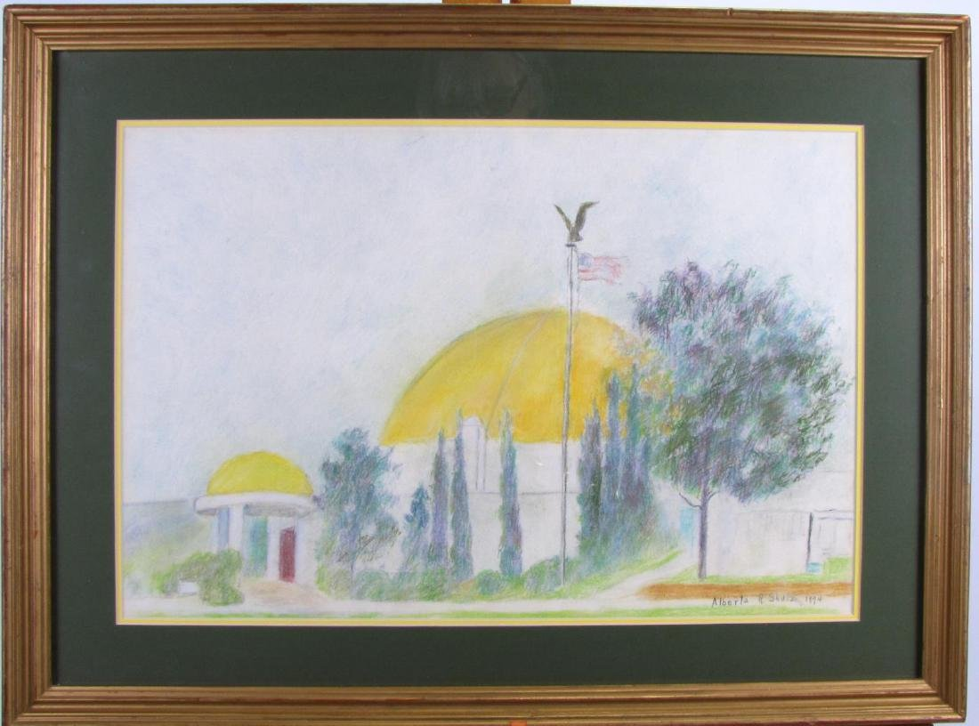 Alberta Shulz 13x20 Pastel Dome and Flag - 2