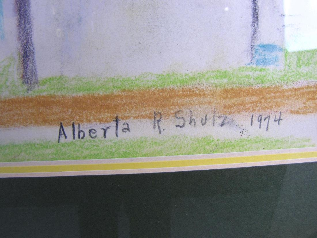 Alberta Shulz 13x20 Pastel Dome and Flag - 4