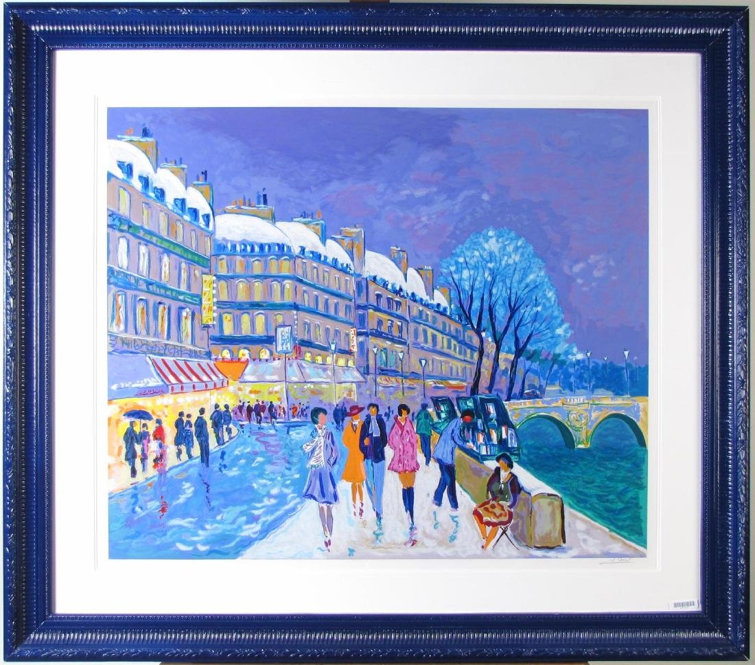 Jean Claude Picot framed Serigraph