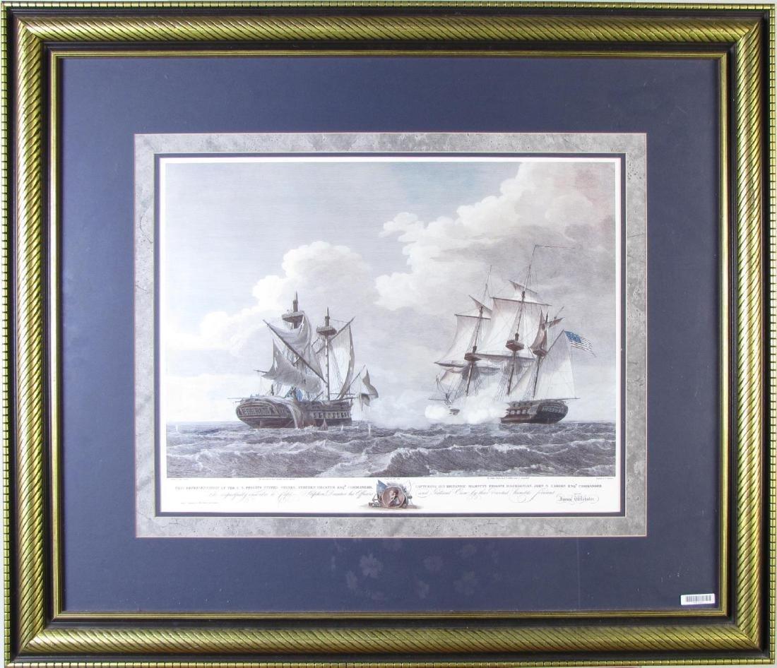 Framed Print of US Frigate, after Birch