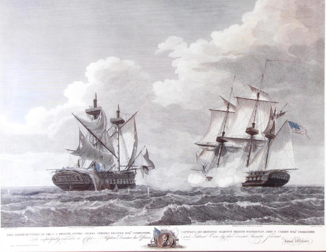 Framed Print of US Frigate, after Birch - 2
