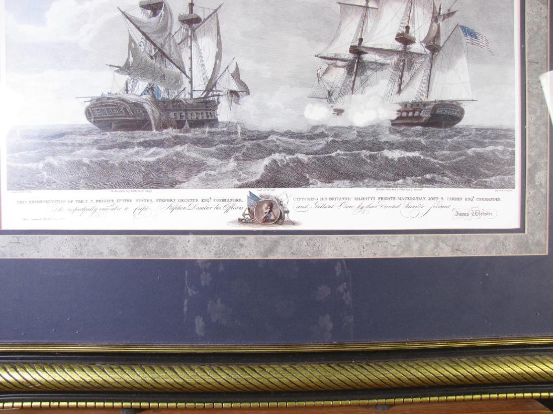 Framed Print of US Frigate, after Birch - 3