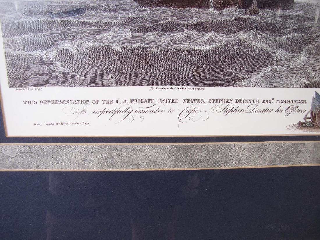 Framed Print of US Frigate, after Birch - 4