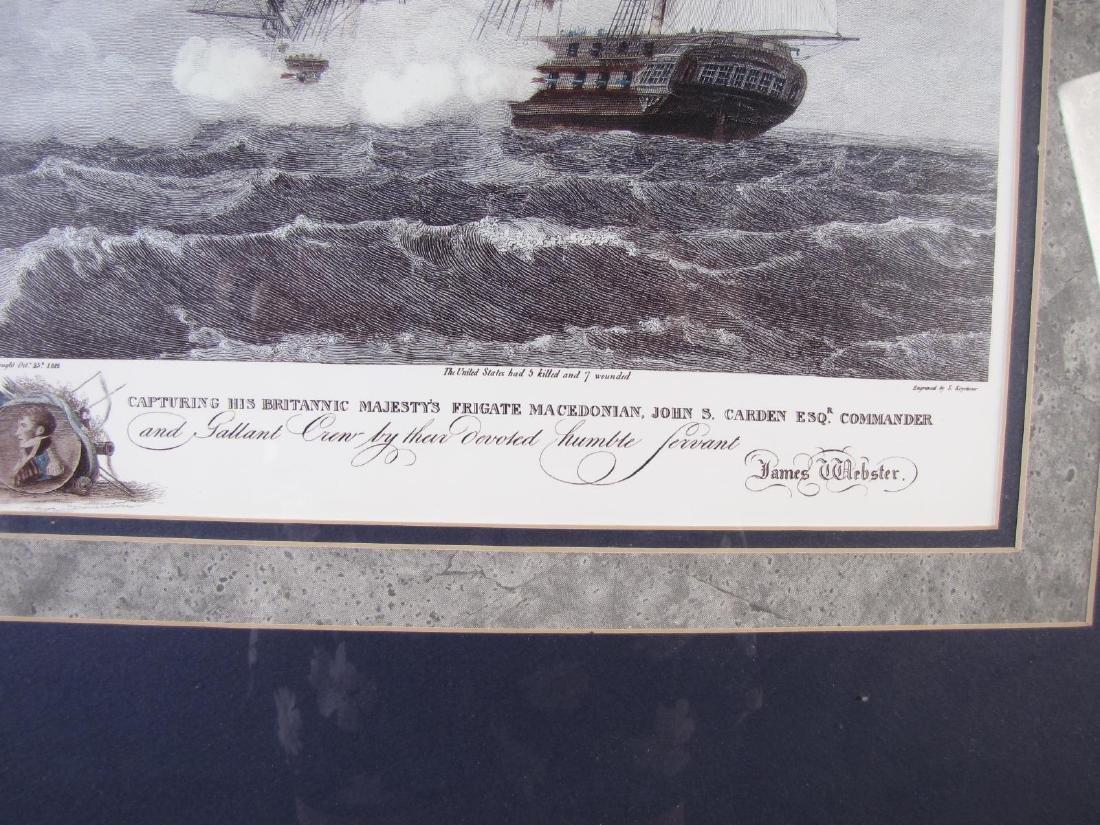 Framed Print of US Frigate, after Birch - 5