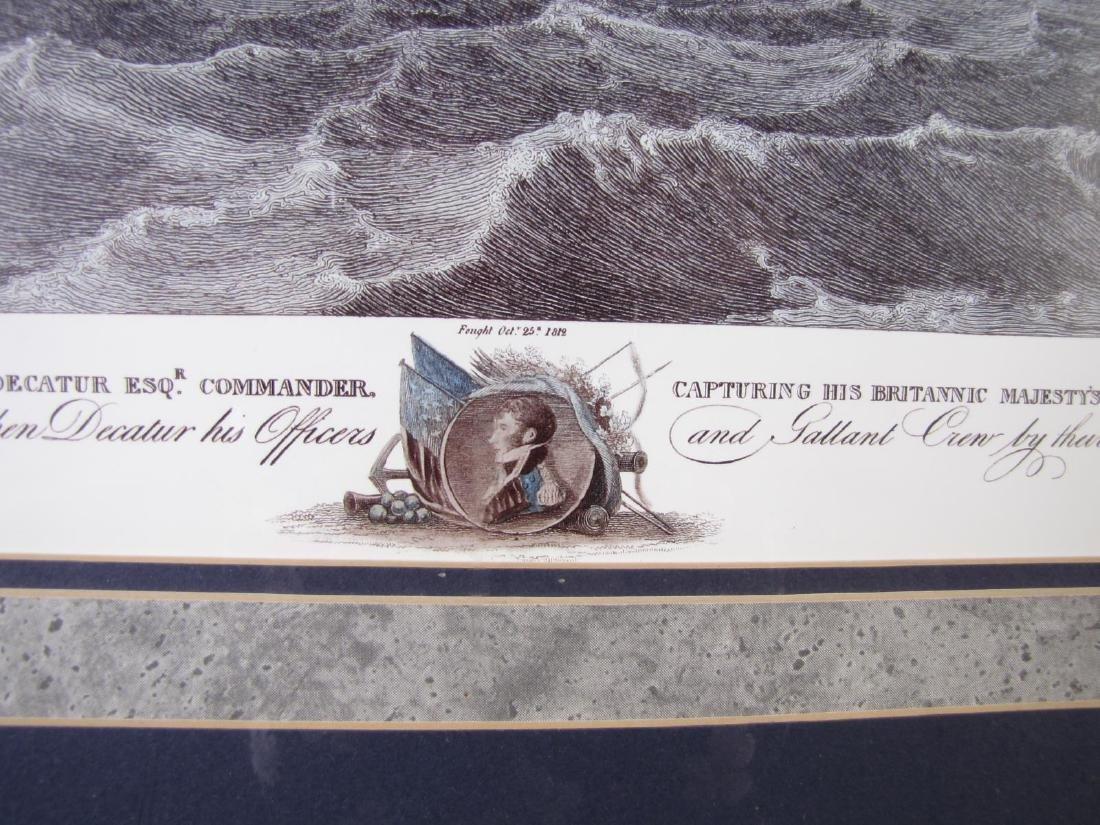 Framed Print of US Frigate, after Birch - 6