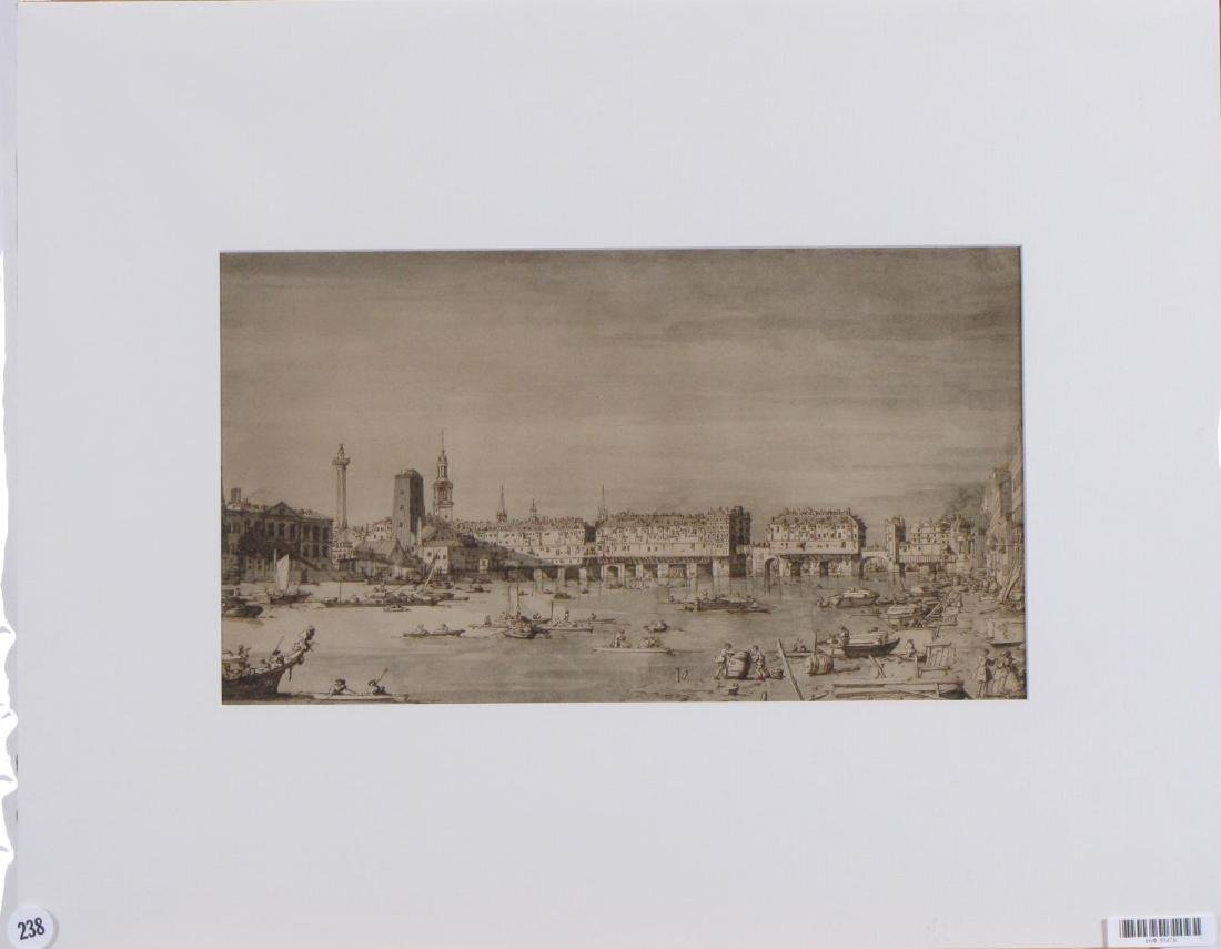 Vintage lithograph, View of Venice, 1902
