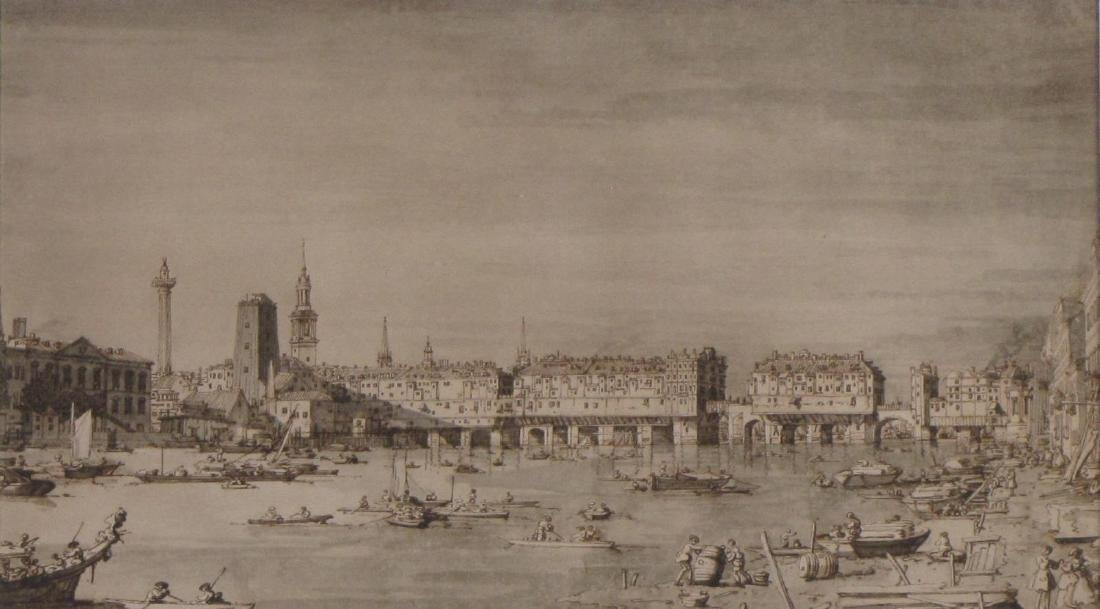 Vintage lithograph, View of Venice, 1902 - 2