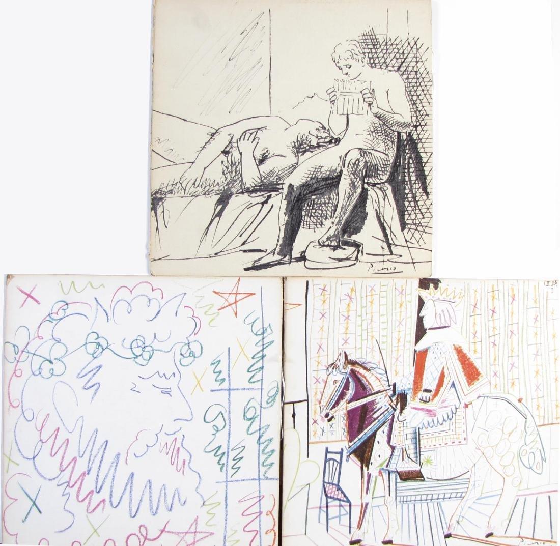 Three Picasso 33LP Album Covers