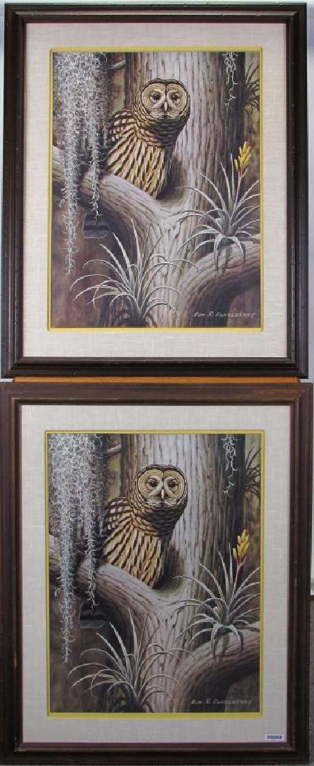 Two Don R. Eckelberry Owl Prints