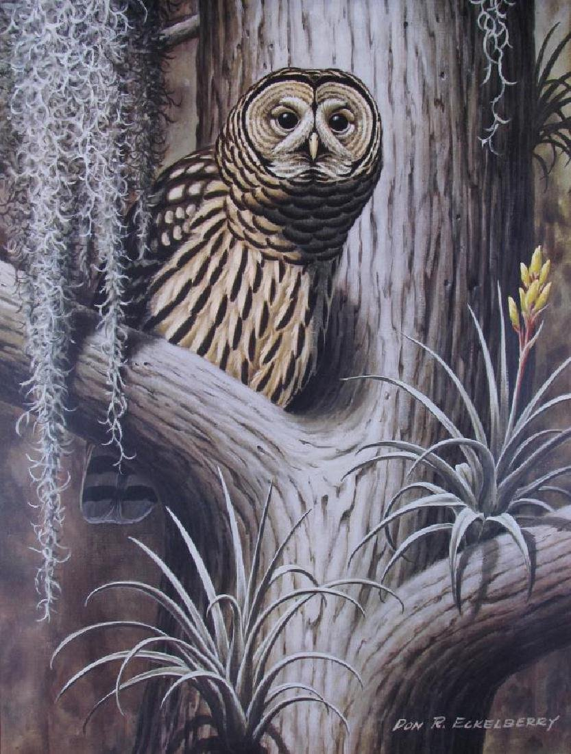 Two Don R. Eckelberry Owl Prints - 2