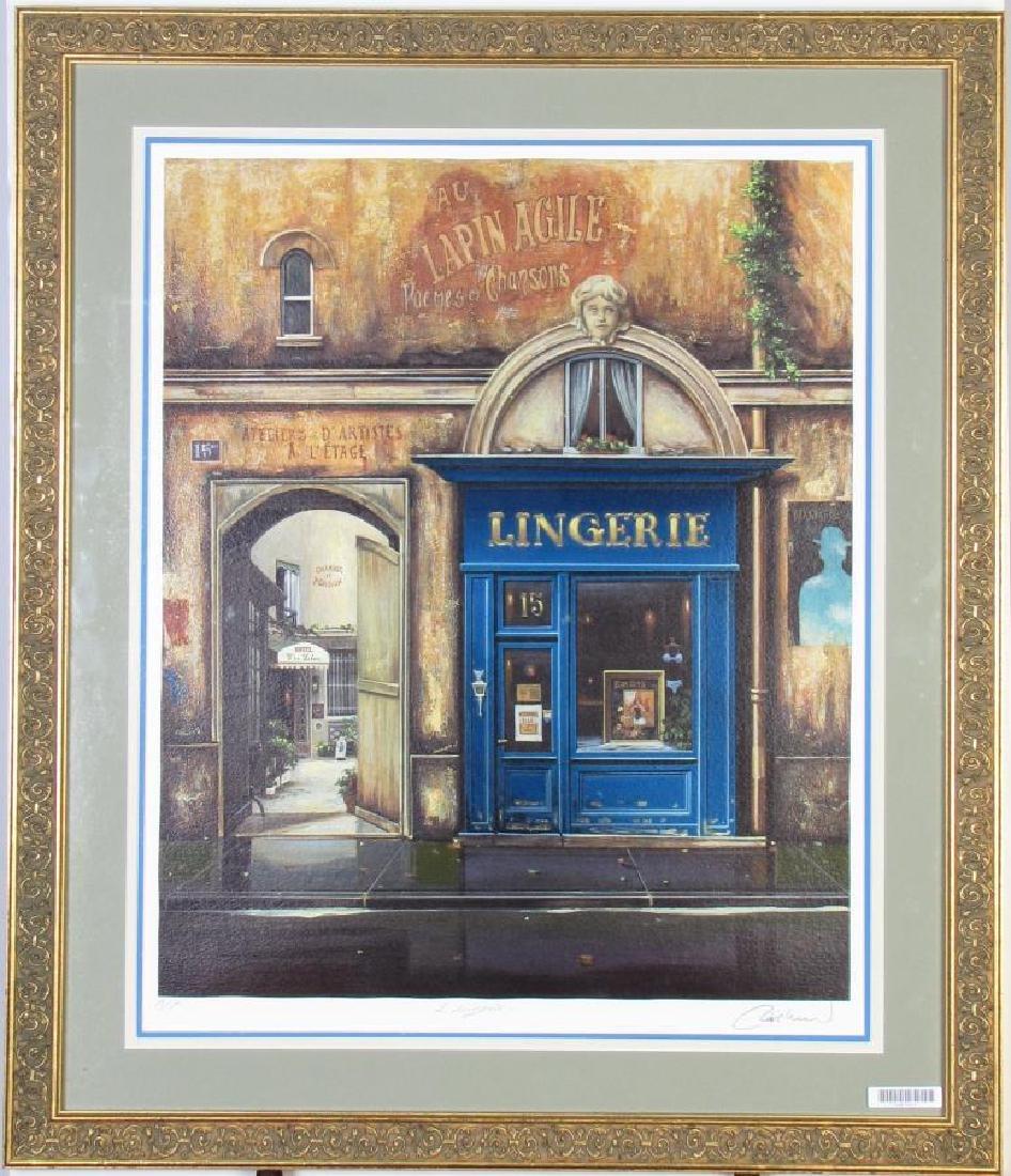 """Louis Robichaud """"Lingerie"""" Color Serigraph"""