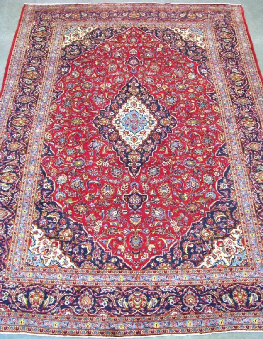 Handmade Kashan 9' x 13' Rug