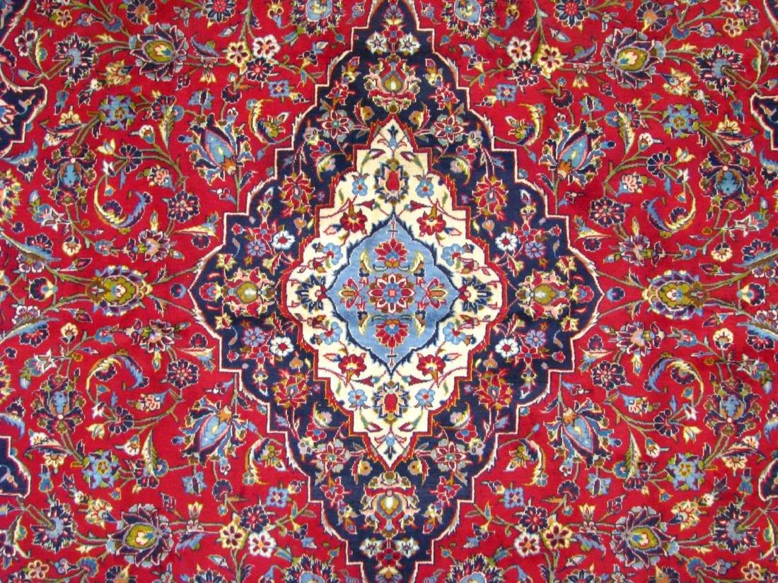 Handmade Kashan 9' x 13' Rug - 3